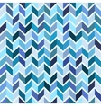 Seamless geometric pattern blue mosaic vector image vector image