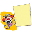 Clown Holding Invitation Announcement vector image