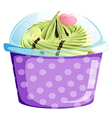 A lavender cupcake container vector image