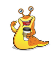 Slug with a Cup of Coffee vector image vector image