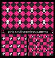 skull seamless patterns vector image vector image