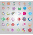 Sphere Icons Set - Isolated On Gray Background vector image