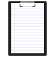 Clipboard with paper vector image