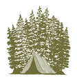 Woodcut Camping Graphic vector image