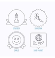 Save planet slapstick and strategy icons vector image