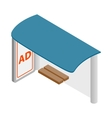 Blank signboard at bus stop icon vector image