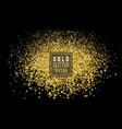 Gold glitter powder explosion dust and spark vector image