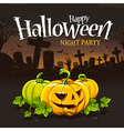 Halloween Card 2 vector image