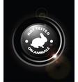 No animal testing vector image