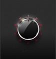 Realistic glass black combination safe lock volume vector image