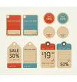 Price tags retro color design vector image vector image