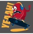 Skater monster Stunts on a skateboard vector image