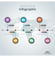 Modern infographics design template vector image