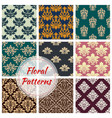 patterns set of floral seamless ornament vector image