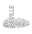 a quick guide to seville text word cloud concept vector image vector image