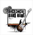 Rock concert poster vector image vector image