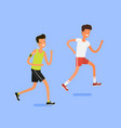 concept of sport and activity people vector image