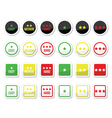 Easy medium hard level with stars icons set vector image