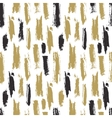 Trendy seamless pattern with ink brush strokes vector image vector image