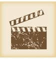 Grungy clapperboard icon vector image