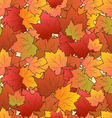 Autumn Seamless Texture of Maple Leaves vector image