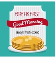 Breakfast food design vector image