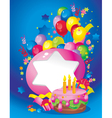 Bright Holiday composition vector image