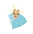 Puppy Going To Sleep vector image