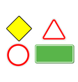 Blank traffic signs vector image