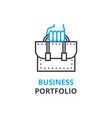 business portfolio concept outline icon linear vector image