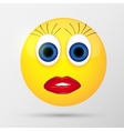Cute sexual girl emoticon vector image