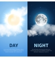 Day and night time concept background with vector image