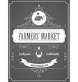 Farmers Market Vintage Advertisement Poster vector image