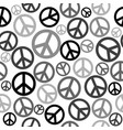 peace sign seamless background vector image