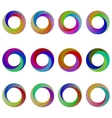 Set of Colorful Circle Icons vector image
