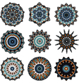 Set of mandalas in turkish style vector image