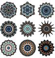 Set of mandalas in turkish style vector image
