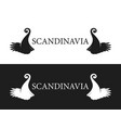 symbol of scandinavia vector image