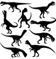 Dilophosaurus dinosaur vector image