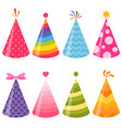 birthday party hats set vector image vector image
