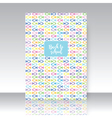 Notebook cover vector image vector image