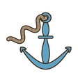 Anchor and rope boat nautical sign vector image