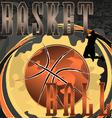 Basketball abstract poster vector image