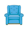 blue armchair hand drawn vector image