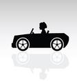 child drive auto vector image