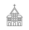 church building christian religion architecture vector image