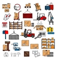 Delivery storage and shipping service vector image