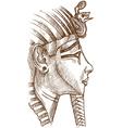 gold tutankhamon mask vector image