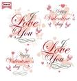 Happy Valentines day vector image