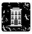 Hotel building icon grunge style vector image